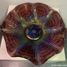 Antigüedades: CARNIVAL GLASS, FRUTERO DE CRISTAL.. Lote 202492747
