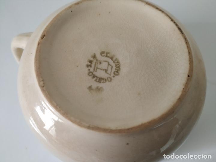 Antigüedades: Pareja de grandes tazas de loza de San Claudio, esmaltadas. Oviedo. - Foto 8 - 202495048