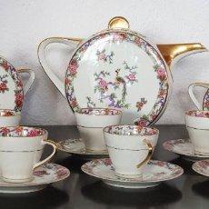 Antigüedades: JUEGO DE CAFE DE LIMOGES ART DECÓ - MOTIVOS ORIENTALES - MUY BONITO.. Lote 202537138