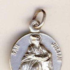 Antigüedades: PRECIOSA MEDALLA DE PLATA SAN JULIAN.- 20 MM.-CON CONTRASTE... Lote 202543030