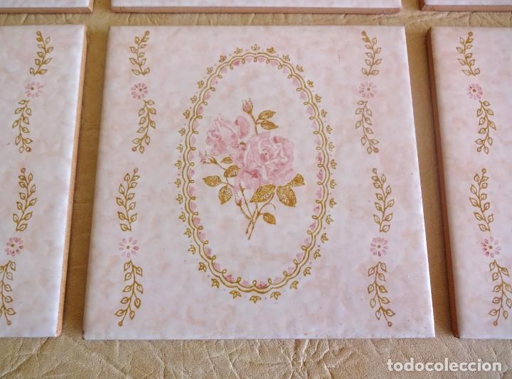 Antigüedades: lote azulejos baldosas vintage cedexsa nuevos 15 cm x 15 cm - Foto 4 - 202569542