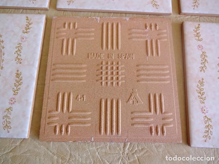 Antigüedades: lote azulejos baldosas vintage cedexsa nuevos 15 cm x 15 cm - Foto 5 - 202569542