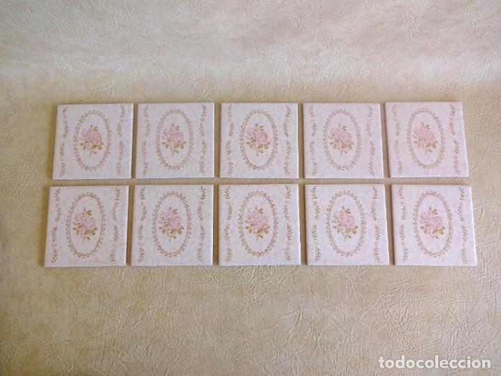 LOTE AZULEJOS BALDOSAS VINTAGE CEDEXSA NUEVOS 15 CM X 15 CM (Antigüedades - Porcelanas y Cerámicas - Azulejos)