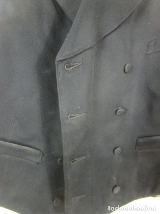 Antigüedades: Antiguo Traje - Abrigo, Chaqueta - Armilla - Pantalón - con Caja Sastre Farrés, Figueras - S. XIX-XX - Foto 24 - 202576066