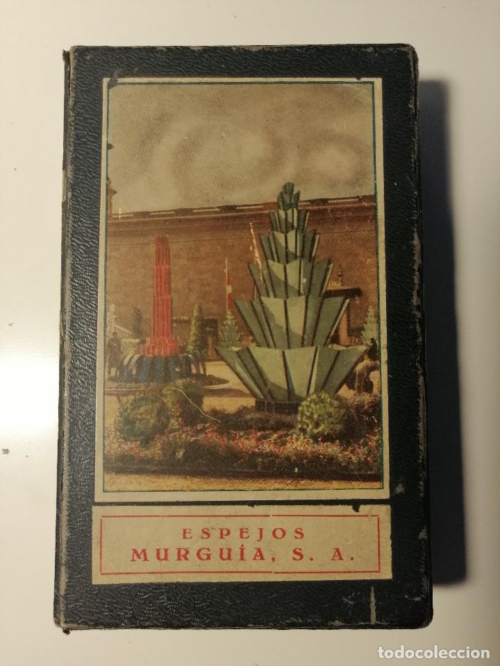 CAJA MUESTRARIO DE ESPEJOS MURGIA. EXPOSICIÓN INTERNACIONAL DE BARCELONA 1929. (Antigüedades - Cristal y Vidrio - Catalán)