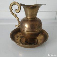 Antigüedades: ANTIGUO LAVAMANOS LITÚRGICO DE METAL. AÑOS 60. Lote 202607520