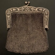 Oggetti Antichi: MONEDERO DE PLATA. Lote 202609046