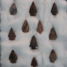 Antigüedades: COLECCION PUNTAS DE FLECHA SILEX. Lote 202623211