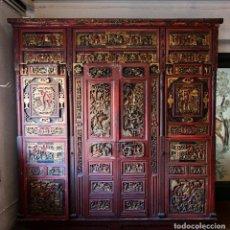 Antigüedades: ARMARIO CHINO DEL SIGLO XIX. A RESTAURAR. VER FOTOS ANEXAS.. Lote 202638016