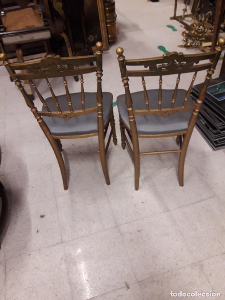 Antigüedades: Pareja de sillas doradas - Foto 4 - 202645940