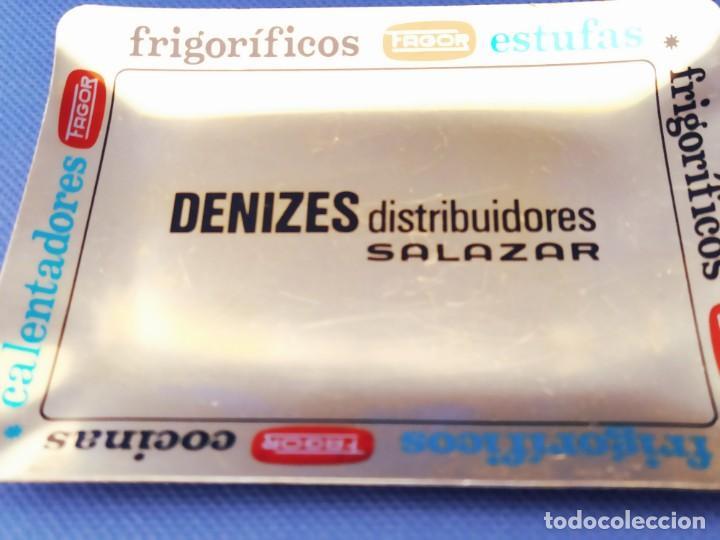 Antigüedades: ANTIGUO CENICERO PUBLICITARIO FAVOR DE CHAPA-DENIZES SALAZAR - Foto 4 - 202672946