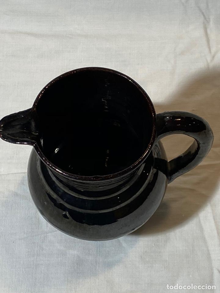Antigüedades: Jarrita en cerámica de reflejo metálico negro de Betxi, Castellón s.XIX - Foto 2 - 202693055