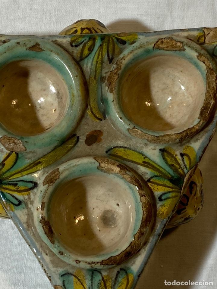 Antigüedades: Especiero en cerámica de Puente, serie de los Pinos, s.XVIII - Foto 5 - 202693470