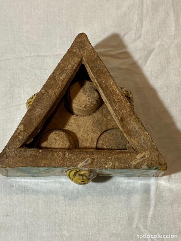 Antigüedades: Especiero en cerámica de Puente, serie de los Pinos, s.XVIII - Foto 6 - 202693470