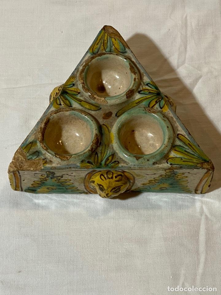 ESPECIERO EN CERÁMICA DE PUENTE, SERIE DE LOS PINOS, S.XVIII (Antigüedades - Porcelanas y Cerámicas - Puente del Arzobispo )