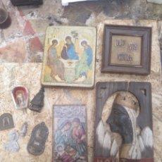 Antiguidades: LOTE 10 ARTÍCULOS RELIGIOSOS. Lote 202697361