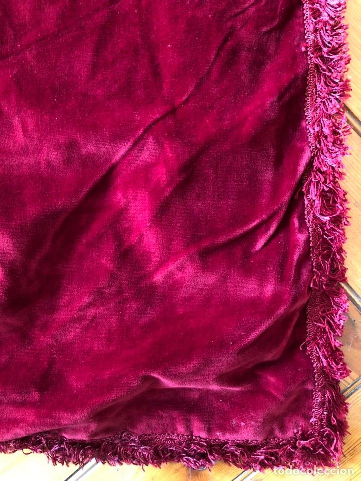 Antigüedades: Pareja cortinas antiguas terciopelo rojo - Foto 2 - 202699440