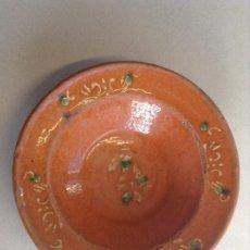 Oggetti Antichi: MUY RARO PLATO DE ESPARREGUERA (S.XIX). Lote 202699942