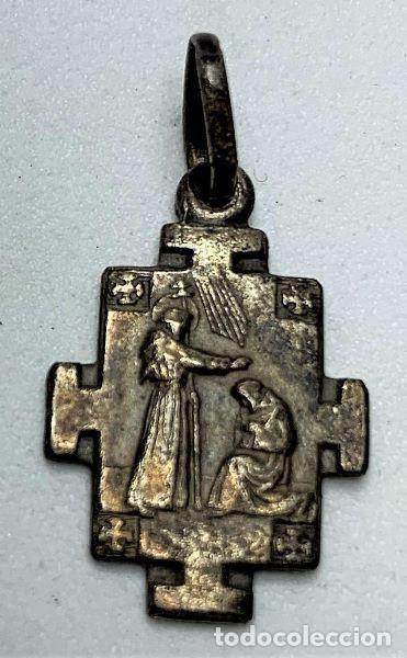 MEDALLA DE PLATA POR DETERMINAR (Antigüedades - Religiosas - Medallas Antiguas)