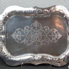 Antigüedades: BANDEJA DE PLATA CON MARCAS DE PLATEROS: ANTONIO CASTEJÓN Y CRISTOBAL JOSÉ DE LEÓN. CÓRDOBA 1859. Lote 202766545
