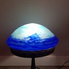 Antigüedades: LAMPARA DAUM NANCY ART NOUVEAU MODERNISTA CRISTAL ANTIGUA LUSTRO RECAMBIO PLAFON FRANCES ART DECO. Lote 202766695
