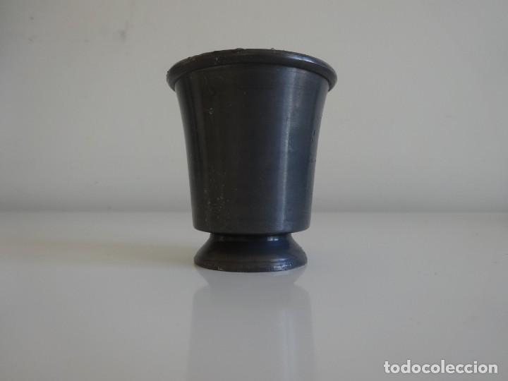 Antigüedades: Copa de estaño pewter con sellos holandesa - Foto 3 - 202778296