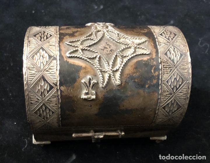 Antigüedades: Cajita cofre joyero plata. - Foto 2 - 202803605
