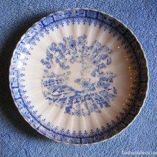 Antigüedades: PLATO PORCELANA CHINA BLUE - SANTA CLARA, TAMAÑO MEDIO 17 CMS DE DIAMETRO.. Lote 202840063