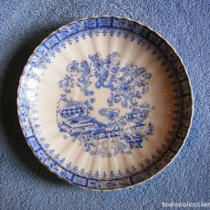 Antigüedades: PLATO PORCELANA CHINA BLUE - SANTA CLARA, TAMAÑO MEDIO 17 CMS DE DIAMETRO.. Lote 202840117
