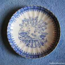 Antigüedades: PLATO PORCELANA CHINA BLUE - SANTA CLARA, TAMAÑO MEDIO 17 CMS DE DIAMETRO.. Lote 202840205
