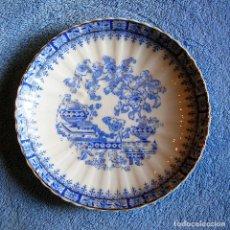 Antigüedades: PLATO PORCELANA CHINA BLUE - SANTA CLARA, TAMAÑO MEDIO 17 CMS DE DIAMETRO.. Lote 202840291