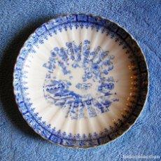 Antigüedades: PLATO PORCELANA CHINA BLUE - SANTA CLARA, TAMAÑO MEDIO 17 CMS DE DIAMETRO.. Lote 202840381
