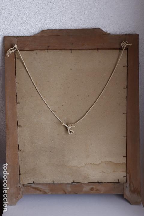 Antigüedades: LITOGRAFÍA SANTA TERESA CON MARCO MODERNISTA - Foto 5 - 202874128