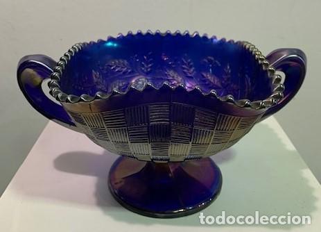CARNIVAL GLASS, FRUTERO. (Antigüedades - Cristal y Vidrio - Inglés)