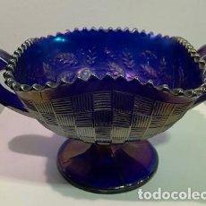 Antigüedades: CARNIVAL GLASS, FRUTERO.. Lote 202878745