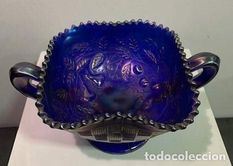 Antigüedades: CARNIVAL GLASS, FRUTERO. - Foto 2 - 202878745