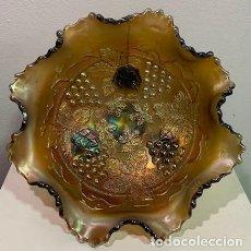 Antigüedades: CARNIVAL GLASS, FRUTERO.. Lote 202879033