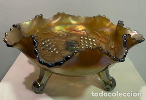 Antigüedades: Carnival Glass, frutero. - Foto 3 - 202879033