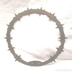 Antigüedades: CORONA ARO PARA IMAGEN BRONCE CINZELADO AÑOS 50. MED. 27 CM DIAMETRO. Lote 202894547