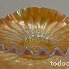 Antigüedades: CARNIVAL GLASS, PLATO.. Lote 202973992