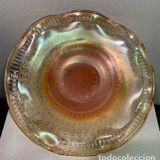 Antigüedades: CARNIVAL GLASS, PLATO.. Lote 202974400
