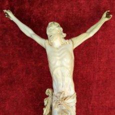 Antigüedades: GRAN CRUCIFIJO. MARFIL TALLADO. ESTILO BARROCO FRANCÉS. FRANCIA. XVIII-XIX. Lote 203011261