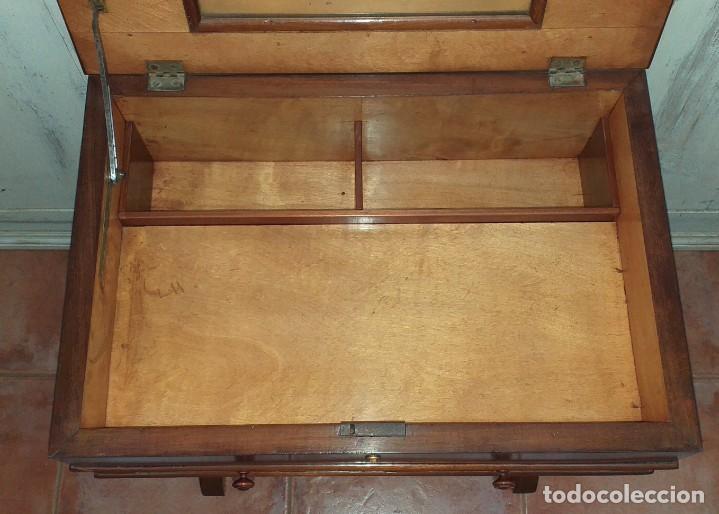 Antigüedades: COSTURERO DE CAOBA SIGLO XIX - Foto 5 - 203034445
