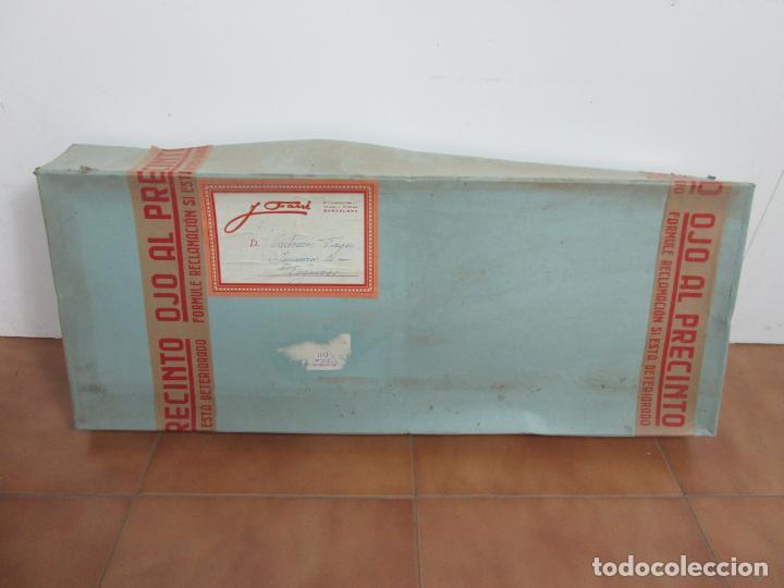 Antigüedades: Antigua Chaqueta de Etiqueta - Chaqué - con Caja Sastre J. Farré, Figueras - S. XIX - Foto 9 - 203046967