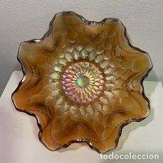 Antigüedades: CARNIVAL GLASS, FRUTERO.. Lote 203059535