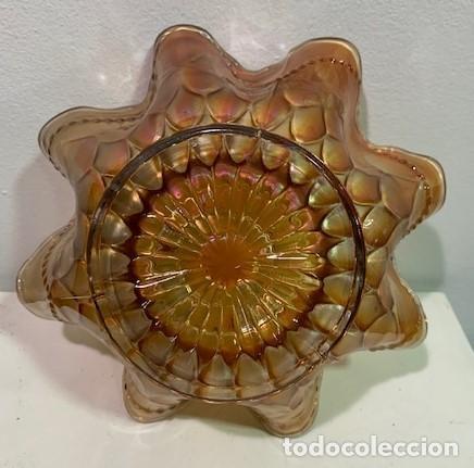 Antigüedades: Carnival Glass, frutero. - Foto 3 - 203059535