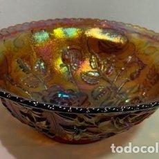 Antigüedades: CARNIVAL GLASS, FRUTERO.. Lote 203060035