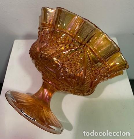 Antigüedades: Carnival glass, frutero. - Foto 3 - 203061067