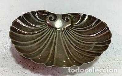 Antigüedades: Pequeña concha de lplata. - Foto 2 - 203074261