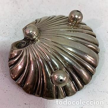 Antigüedades: Pequeña concha de lplata. - Foto 3 - 203074261